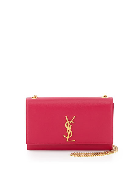 Saint Laurent Monogram Medium Chain Shoulder Bag, Fuchsia