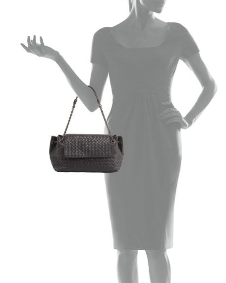 a68fc2c859 Bottega Veneta Small Madras Intrecciato Flap Shoulder Bag