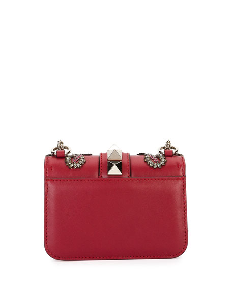 Lock Mini Love Blade Shoulder Bag, Red