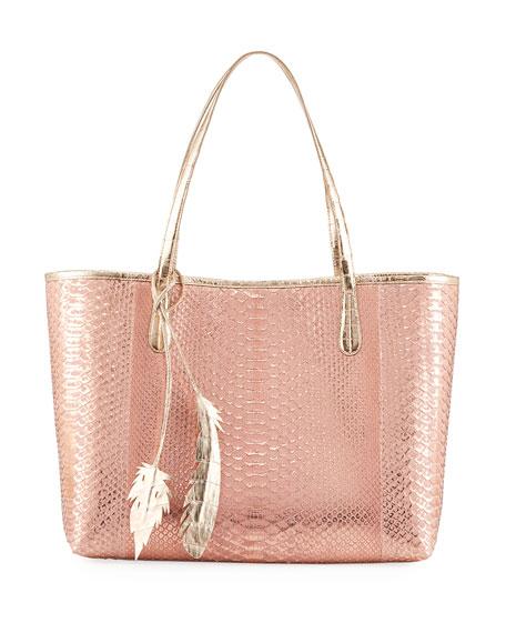Erica Python Shopper Tote Bag