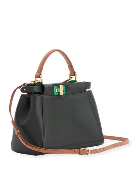 Peekaboo Mini Bicolor Satchel Bag
