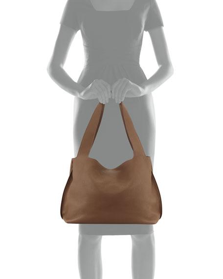 Duplex Calfskin Satchel Bag