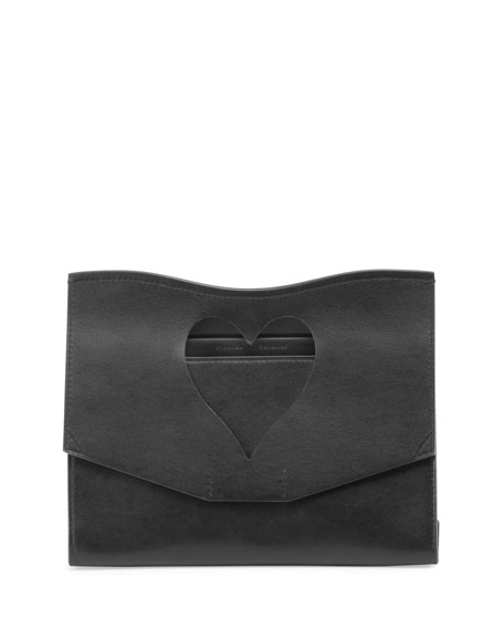 Proenza Schouler Curl Medium Cutout Clutch Bag, Black
