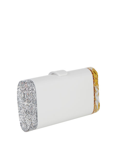 Lara Backlit Glitter Acrylic Clutch Bag
