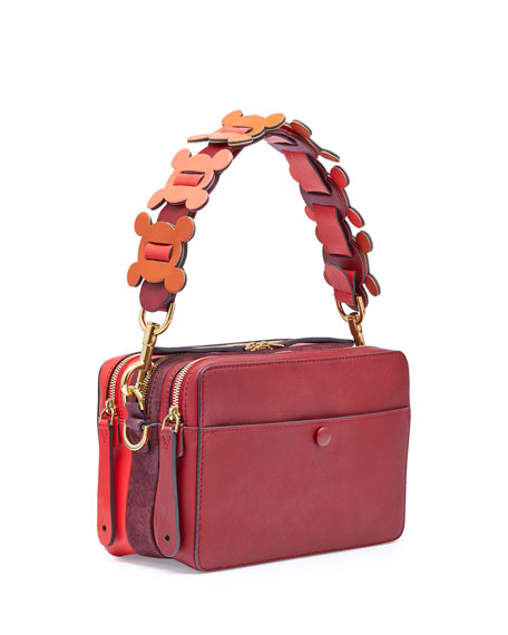 The Stack Shoulder Circulus Bag, Red