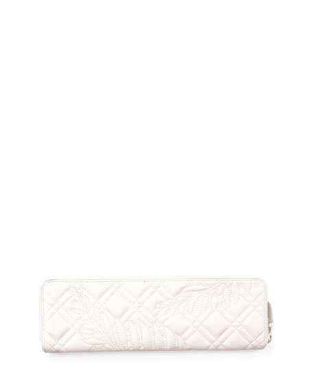 Blanket Quilted Leather Clutch Bag