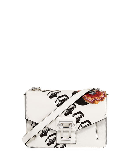 Proenza Schouler Hava Printed Leather Chain Shoulder Bag,