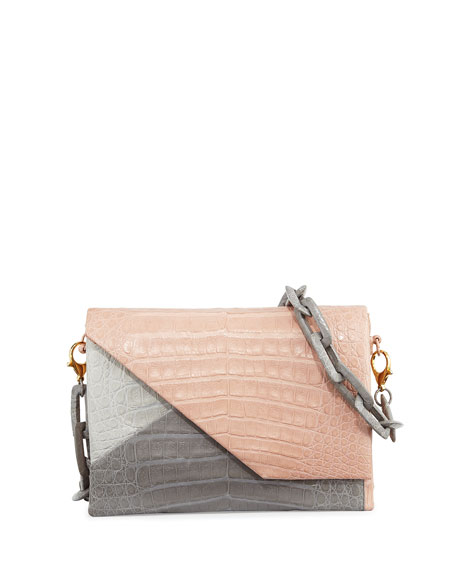Crocodile Origami Chain Shoulder Bag