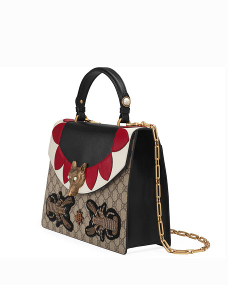 Linea E Canvas & Leather Top-Handle Bag