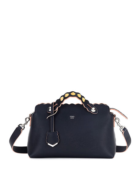 Fendi By the Way Small Scalloped Satchel Bag,