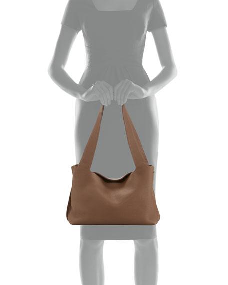 Duplex Small Calfskin Satchel Bag