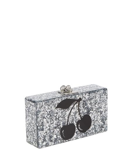 Jean Cerise Resin Clutch Bag