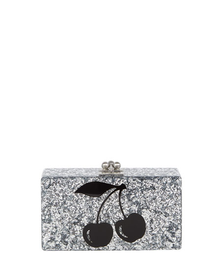 Edie Parker Jean Cerise Resin Clutch Bag