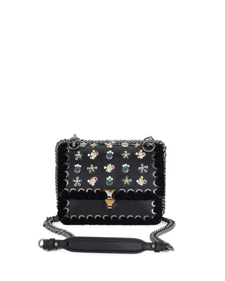 Fendi Kan I Mini Whipstitch Stones Shoulder Bag
