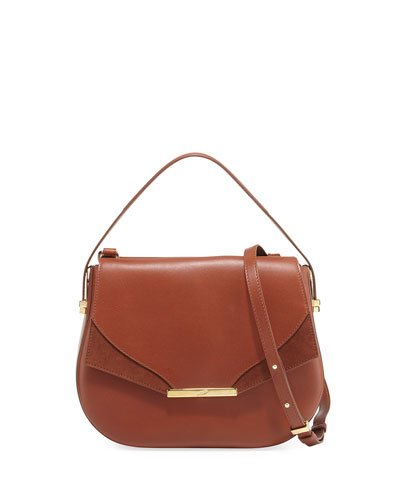 Deedee Leather Saddle Bag, Brown