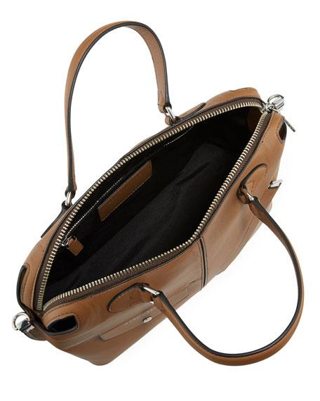 The Edge Leather Satchel Bag, Oak