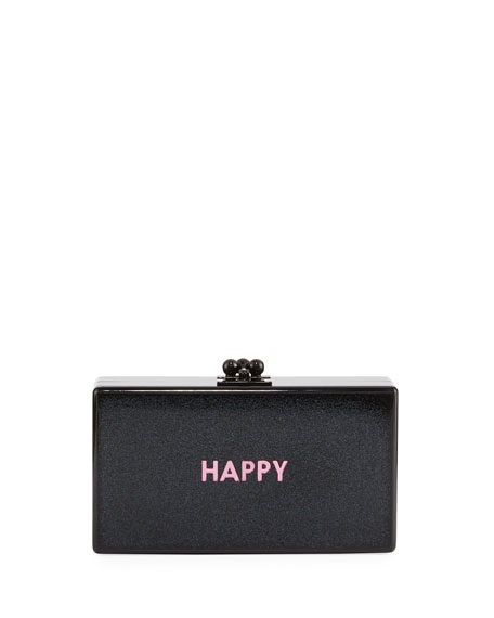 Edie Parker Jean Happy Acrylic Clutch Bag