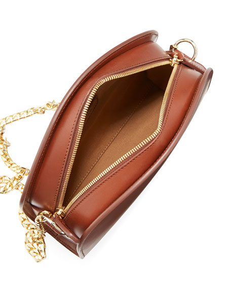 Luna Leather Chain Shoulder Bag