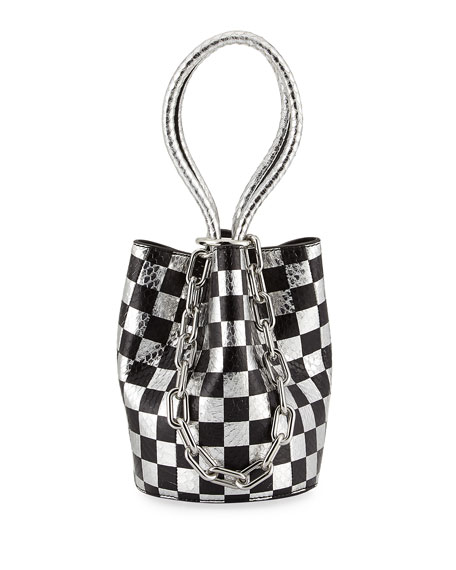 Alexander Wang Roxy Mini Checkered Leather & Snakeskin