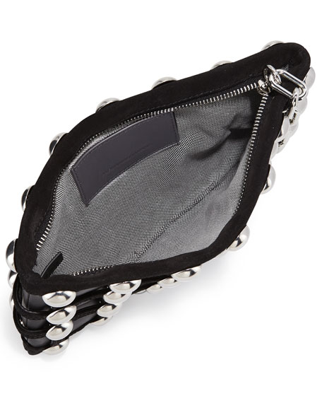 Roxy Dome Stud Cage Pouch Bag, Black