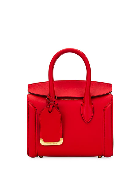 Alexander McQueen Heroine 21 Mini Tote Bag, Red
