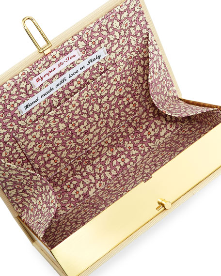 Meine Lieblingsmorde Book Clutch Bag, Cream