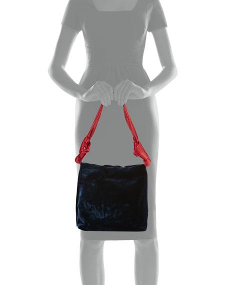 Wander Small Velvet & Snakeskin Shoulder Bag