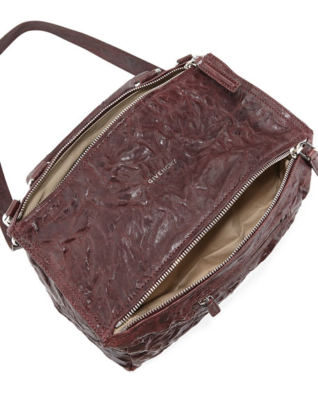 Pandora Medium Pepe Leather Shoulder Bag, Maroon