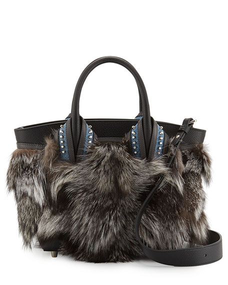 Eloise Small Fox Fur Tote Bag