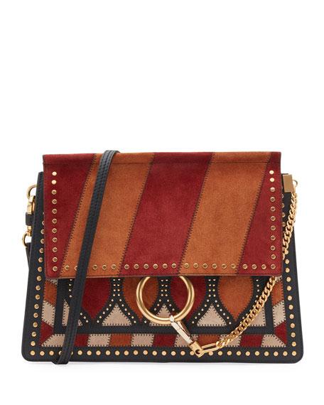 Faye Studded Floral Shoulder Bag, Multi