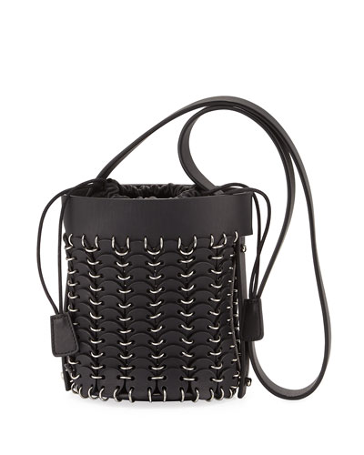 14#01 Chain-Link Mini Bucket Bag  Black