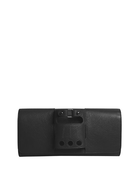 Le Cabriolet Calf Leather Clutch Bag
