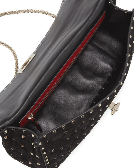 Rockstud Spike Large Suede Top-Handle Bag