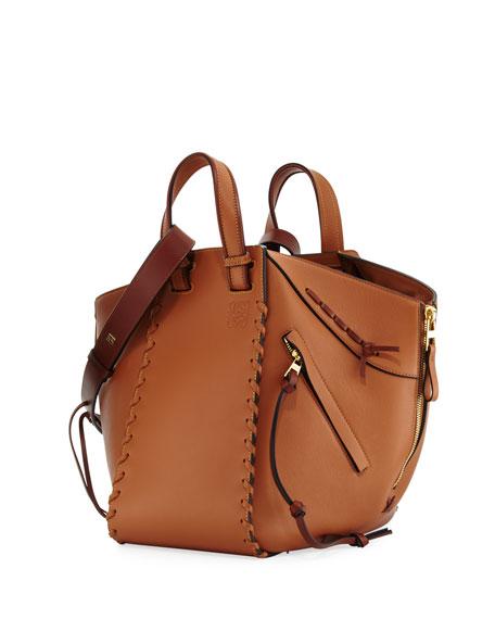 Hammock Small Calf Leather Tote Bag, Beige
