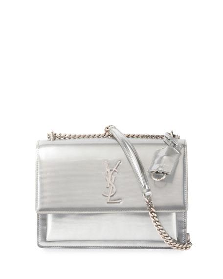Monogram Sunset Medium Chain Shoulder Bag, Silver
