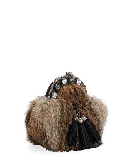 Rabbit Fur Clutch Bag