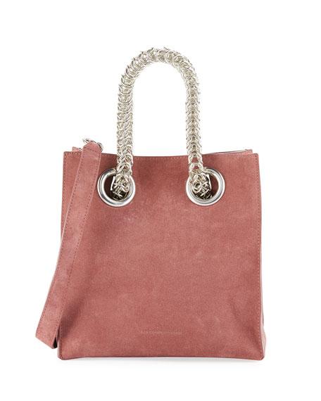 Genesis Suede Chain-Handle Tote Bag