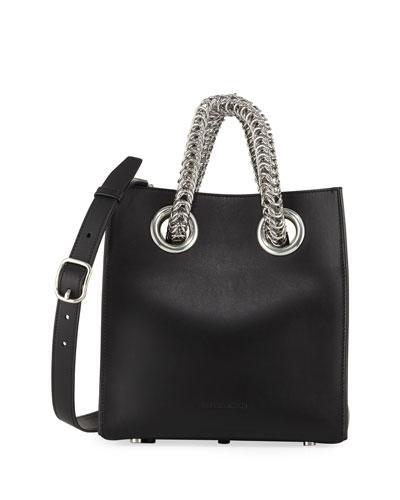 Genesis Leather Chain-Handle Tote Bag