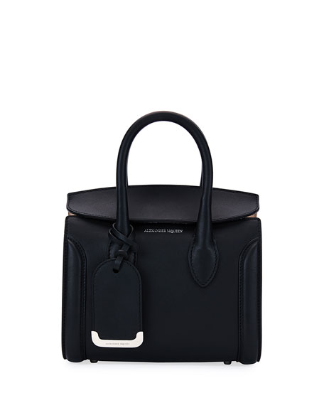 Alexander McQueen Heroine 21 Mini Satchel Bag, Black