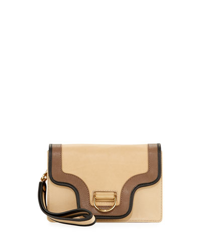 Uptown Colorblock Leather Clutch Bag