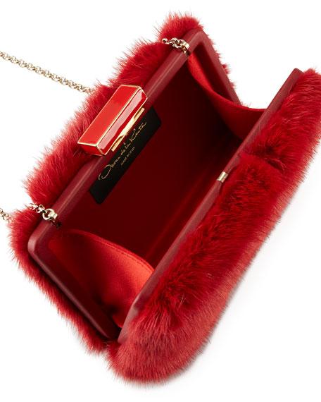 Rogan Mink Fur Box Clutch Bag