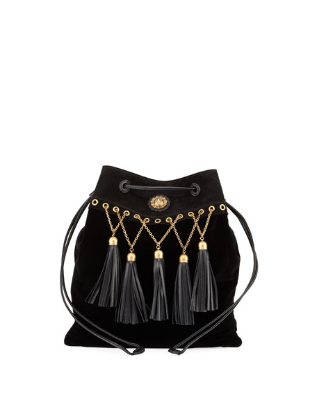 Velvet Tassel Chain Hobo Bag