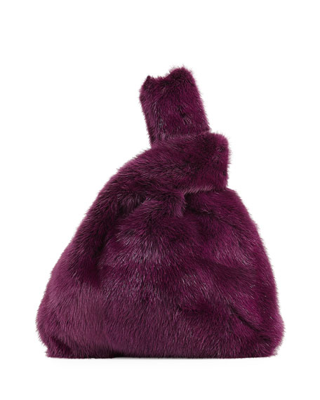 Furrissima Mink Fur Bag, Purple