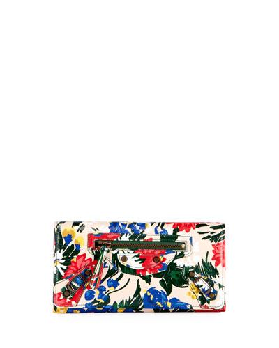Classic Money Floral-Print Wallet