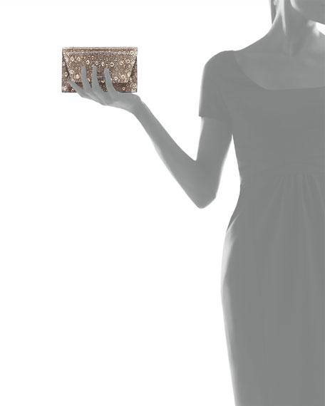 Anouk Lizard Envelope Clutch Bag