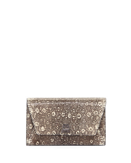 Anouk Lizard Envelope Clutch Bag