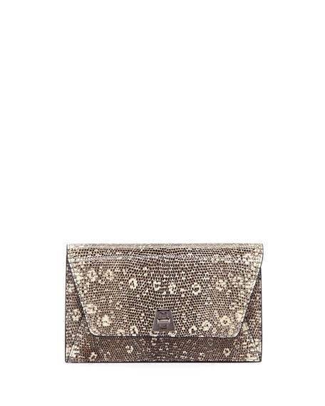 Akris Anouk Lizard Envelope Clutch Bag