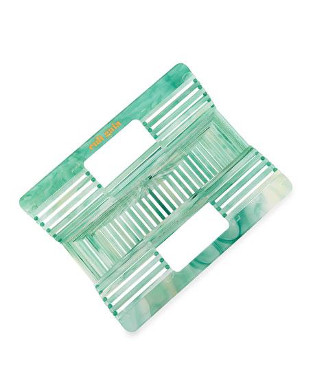 Ark Mini Glittered Acrylic Clutch Bag