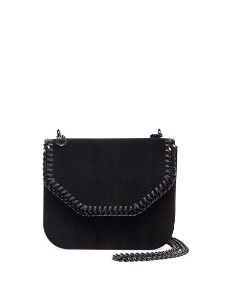 Mini Falabella Velvet Chain Shoulder Bag with Tonal Hardware
