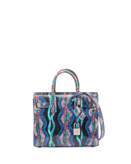 Sac de Jour Nano Curvy Stripe Snakeskin Tote Bag